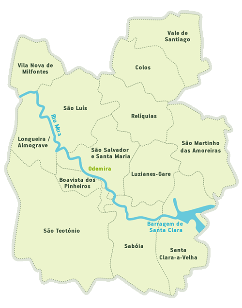 mapa de odemira CM Odemira / Juntas de Freguesia mapa de odemira